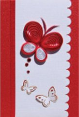 Butterfly Quilled Small Paper Cards (Set of 4) with envelopes