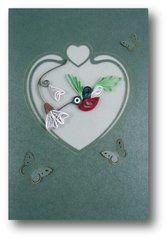 Hummingbird Quilled Paper Cards (Set of 3) with envelopes