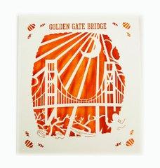 Golden Gate Bridge Laser Cut Paper Cards (Set of 4) with envelopes