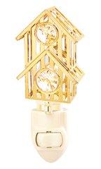 Gold Plated Bird House Night Light w/Swarovski Element Crystal
