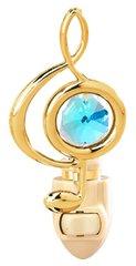 Gold Plated Treble Clef Night Light w/Swarovski Element Crystal