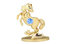 Gold Plated Chinese Zodiac - Horse w/Swarovski Element Crystal