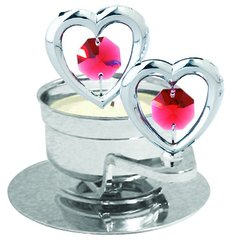 Twin Hearts T-Lite Holder w/Swarovski Element Crystal