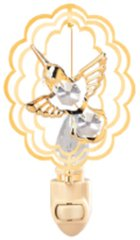 Hummingbird in Oval Night Light w/Swarovski Element Crystal