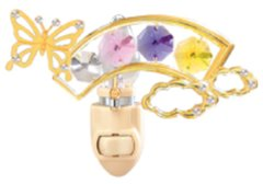 Butterfly/ Rainbow Night Light w/Swarovski Element Crystal
