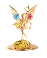 Happy Mother's Day - Fairy with Star on Stand w/Mixed Swarovski Element Crystals