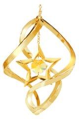 Star Spiral Ornament w/Gold Swarovski Element Crystals