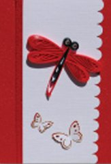 Dragonfly Quilled Small Paper Cards (Set of 4) with envelopes
