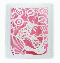 Pineapple Laser Cut Paper Cards (Set of 4) with envelopes