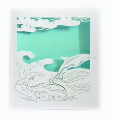 Dolphin Laser Cut Paper Cards (Set of 4) with envelopes