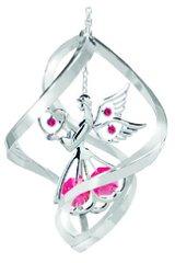 Angel w/Heart Ornament w/Red Swarovski Element Crystals