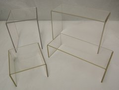 Set of 4 Clear Acrylic Risers