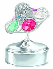 Lady Hat Music Box w/Swarovski Element Crystal