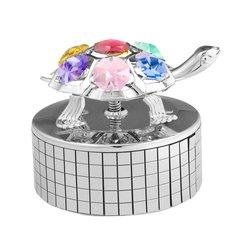 Turtle Music Box w/Swarovski Element Crystal