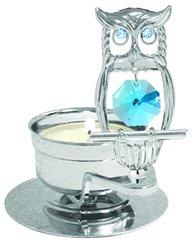 Mini Owl T-Lite w/Swarovski Element Crystal