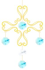 Gold Plated Cross Chandelier Ornament w/Swarovski Element Crystal
