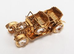 Gold Plated Vintage Car Free Standing w/Swarovski Element Crystal