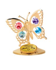Happy Mother's Day - Butterfly on Stand w/Mixed Swarovski Element Crystals