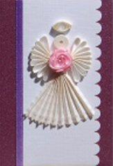 Angel Quilled Small Paper Cards (Set of 4) with envelopes