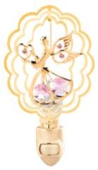 Angel w/Heart in Oval Night Light w/Swarovski Element Crystal