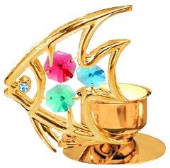 Fish T-Lite Holder w/Swarovski Element Crystal