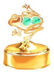 Frog Music Box w/ Swarovski Element Crystal