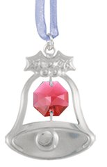 Holiday Bell Ornament w/Swarovski Element Crystal