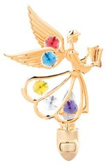Gold Plated Angel w/Hynm Night Light w/Swarovski Element Crystal