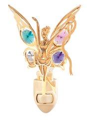 Gold Plated Fairy w/Ribbon Night Light w/Swarovski Element Crystal