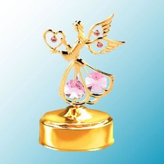 Angel w/Heart Music Box w/ Swarovski Element Crystal