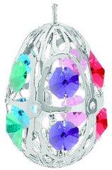 Crystal Egg Ornament w/Mixed Swarovski Element Crystal