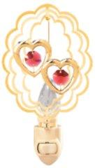 Twin Hearts in Oval Night Light w/Swarovski Element Crystal