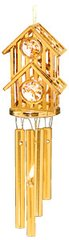 Gold Plated Birdhouse Wind Chime w/Swarovski Element Crystal