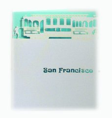 Cable Car Laser Cut Paper Cards (Set of 4) with envelopes