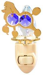 Gold Plated Dog (Poodle) Night Light w/Purple Swarovski Element Crystal