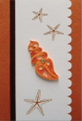 Seashell Quilled Small Paper Cards (Set of 4) with envelopes