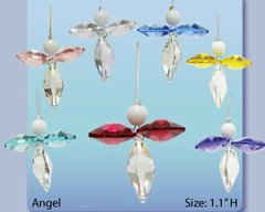 Angel Crystal Charm Ornament w/Swarovski Element Crystal