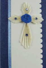Cross Quilled Small Paper Cards (Set of 4) with envelopes