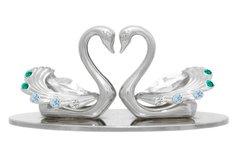 Twin Swans Free Standing w/Swarovski Element Crystal