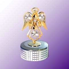 Angel with Heart Mirror Base Music Box w/Swarovski Element Crystal