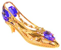 Gold Plated Shoe/Daisy Sun Catcher (Magnet) w/Swarovski Element Crystal