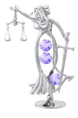 Goddess of Justice Free Standing w/Swarovski Element Crystal
