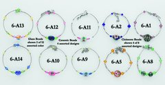 Cloissone/Ceramic/Glass Bead Bracelet Assortment - Only $14.95 per dozen