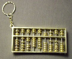 Golden Abacus Key Chain