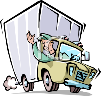 delivery driver clip art - photo #34