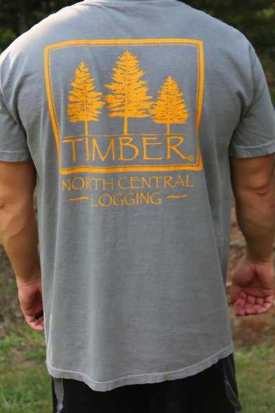 Comfort colors brand timber t shirt w timber logo and for T shirt for company