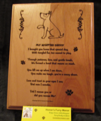 Adopted Dog - Adoption Poem Plaque - Rectangle