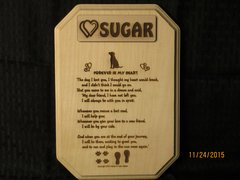 Loss of Dog - Memorial Poem Plaque - Rectangle