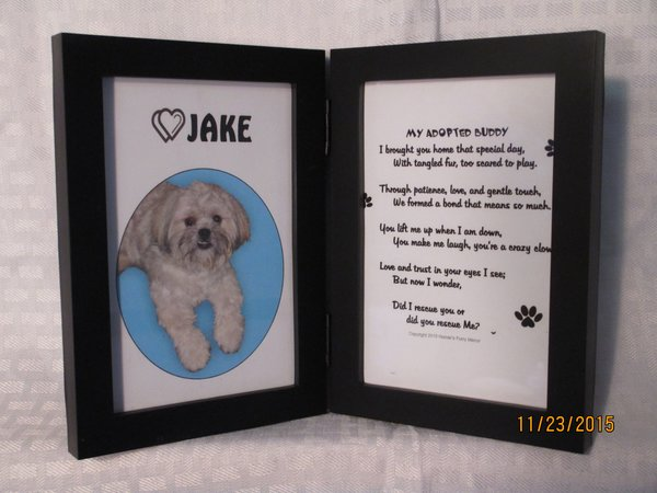 Adopted Pet - Double Frame for Picture and Poem