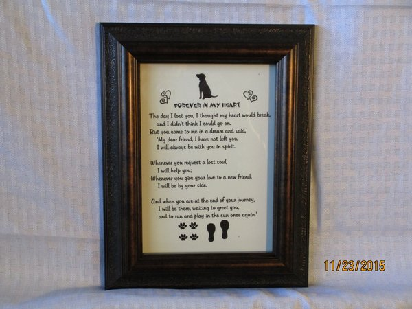 Loss of Dog - Memorial Poem Picture
